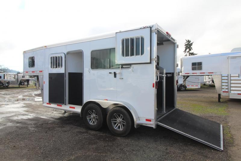 2018 Exiss 7200 ST 2 Horse Straight Load Aluminum Warmblood Trailer