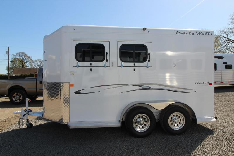 """2018 Trails West Classic II 7'6"""" Tall 2 Horse Trailer - Lined and Insulated Roof"""