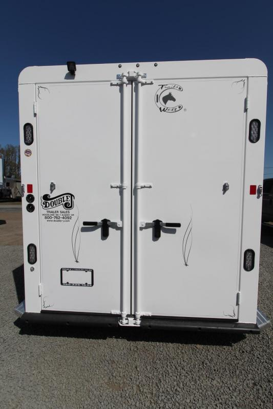 "2018 Trails West Classic II 7' 6"" Tall 2 Horse Trailer - Lined and Insulated Roof"