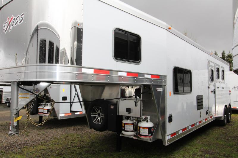 2019 Exiss Trailers 7310 - 3 Horse Trailer - 10' SW LQ - All Aluminum - Easy Care Flooring - Power Awning - Upgraded Real Wood Interior Features - TV-  PRELIMINARY PHOTOS