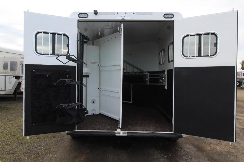 2018 Trails West Sierra 8x13 w/ Slide out - 2 Horse Trailer - Hoof Grip Flooring - Aluminum Skin