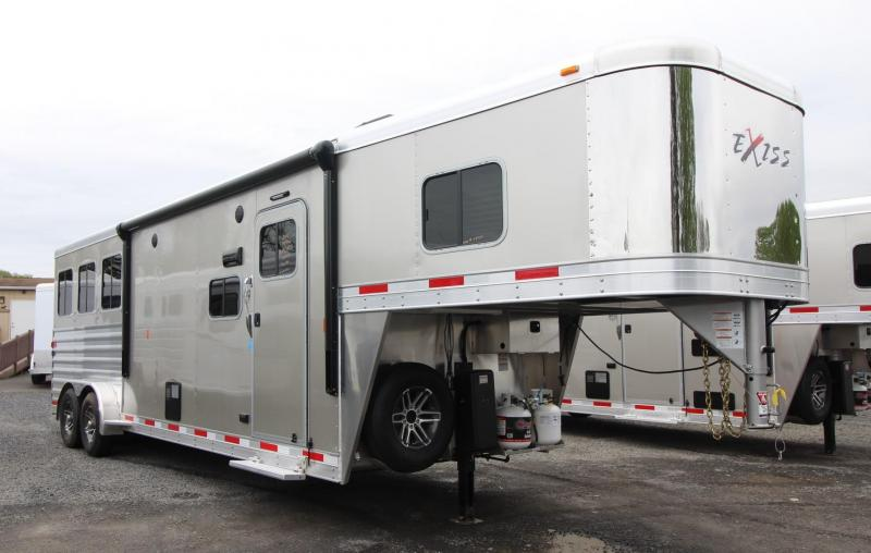 2019 Exiss Escape 7310 - 10ft Living Quarters 3 Horse Aluminum Trailer