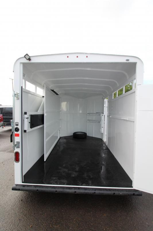 2019 Thuro-Bilt Wrangler 2 Horse Trailer - 7' Tall - Swinging Tack Wall -