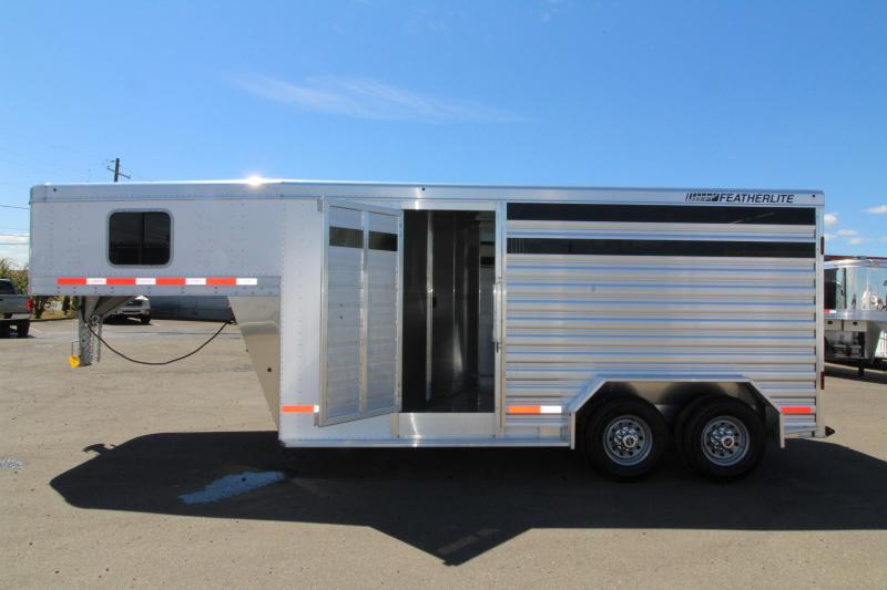 2019 Featherlite 8413 2 Horse Trailer - High Side Windows - Tack Package