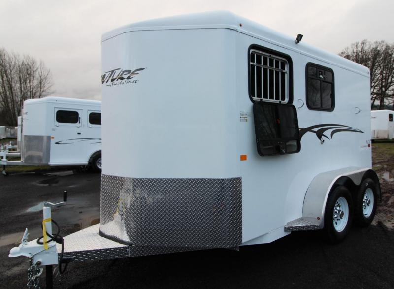 2019 Trails West Adventure MX II 2 Horse Trailer - Aluminum skin steel frame