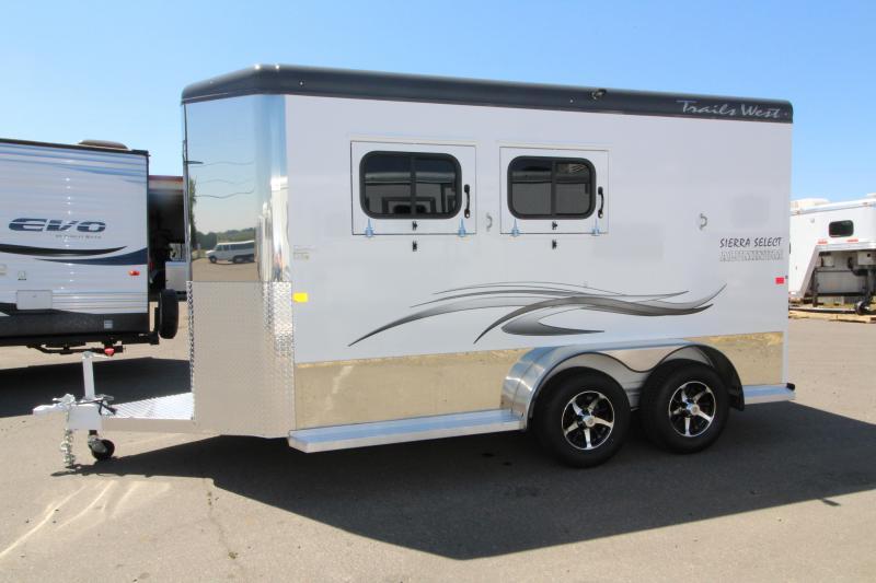 "2019 Trails West Sierra Select  - 7'6"" Tall - 2 Horse Trailer - Vacuum Bonded Aluminum Siding"