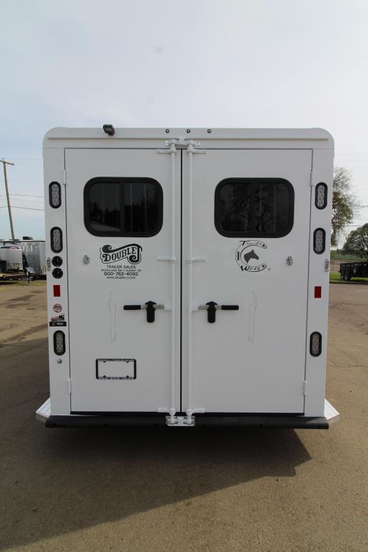 2019 Trails West Sierra 2 Horse Trailer - Convenience Package - 7' Tall and Wide - Swing Out Saddle Rack