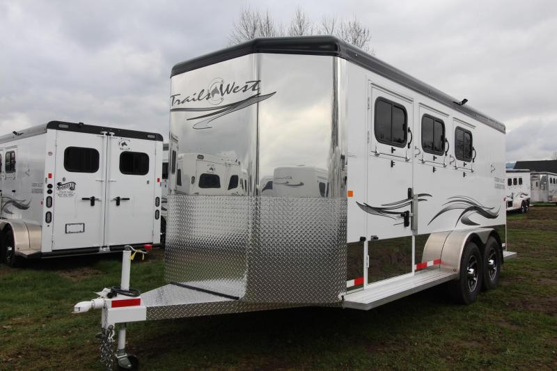 2018 Trails West Sierra Select 3 Horse Trailer Seamless Aluminum Vacuum Bonded Walls and Roof - Insulated