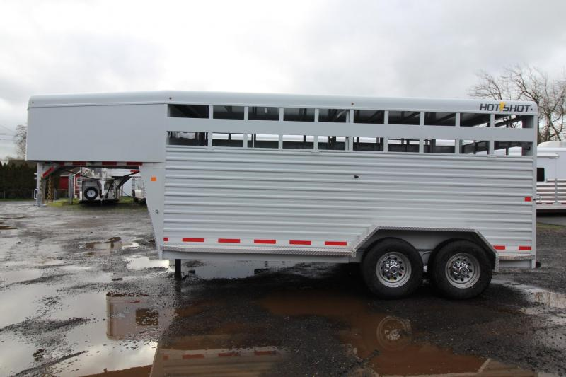 2018 Trails West Hot Shot 16ft Livestock Trailer W/ Center Gate Upgraded w/ Sort Door