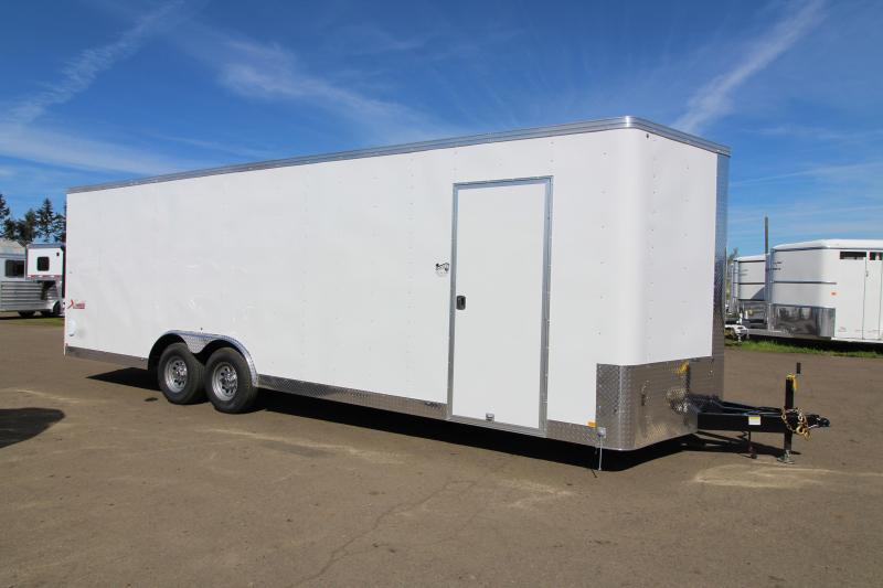 """2019 Mirage Trailers X- Press 8'6"""" x 24 Enclosed Car / Racing Trailer - Crystal White Exterior Color - Rear Ramp Door - Upgraded Car Carrier Package  in Ashburn, VA"""