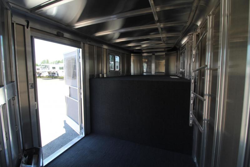 2018 Featherlite 8542 - Escape Door - Rear Tack - Large Dressing Room W/ Screen Door - 3 Horse Trailer Price Reduced for Slight Hail Damage