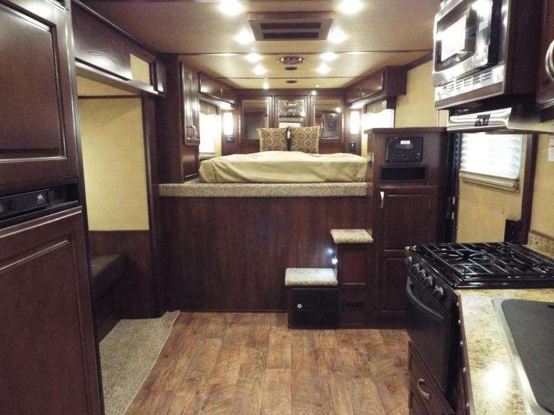 "2017 Featherlite 9821 4 Horse 11 ft LQ w/ Slide Out & ""Easy Care"" Flooring in Horse Area REDUCED $1550"
