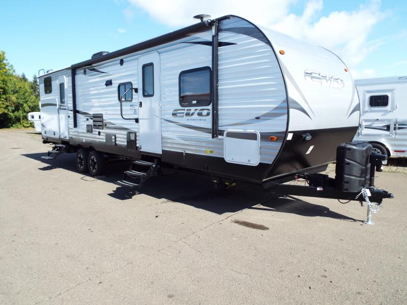 2018 Evo 3250 Travel Trailer - Outside Kitchen - Dual Slide Outs - TV - Silver Birch Interior Decor - PRICE REDUCED BY $2200