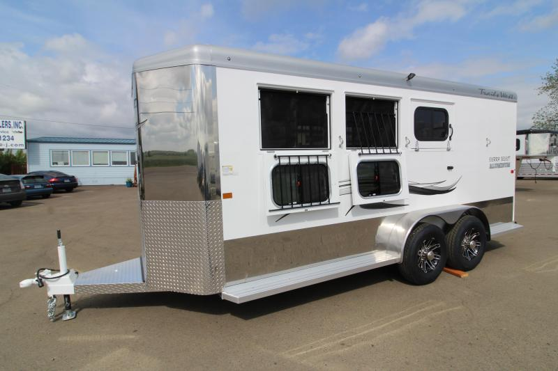 2019 Trails West Sierra Select 3 Horse Trailer - Vacuum Bonded Aluminum Construction - With Escape Door