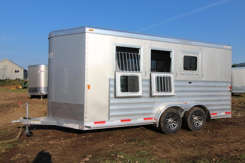 "2018 Exiss 730 - 3 Horse Trailer 7' 6"" Tall - Large Tack Room and a Rear Tack! - Polylast flooring PRICE REDUCED $1025"
