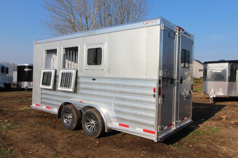 "2018 Exiss 730 - 3 Horse Trailer 7' 8"" Tall - Large Tack Room and a Rear Tack! - Polylast flooring PRICE REDUCED $1550"