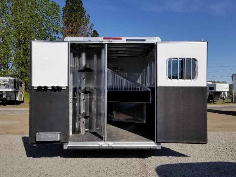 2018 Exiss Escape 7310 - 10' Short Wall LQ - 3 Horse Trailer - Polylast Floor