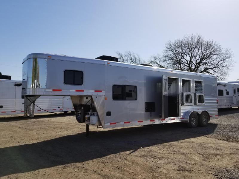 2018 Exiss Escape 7310 - 10' Short Wall LQ - 3 Horse Trailer - Polylast Floor