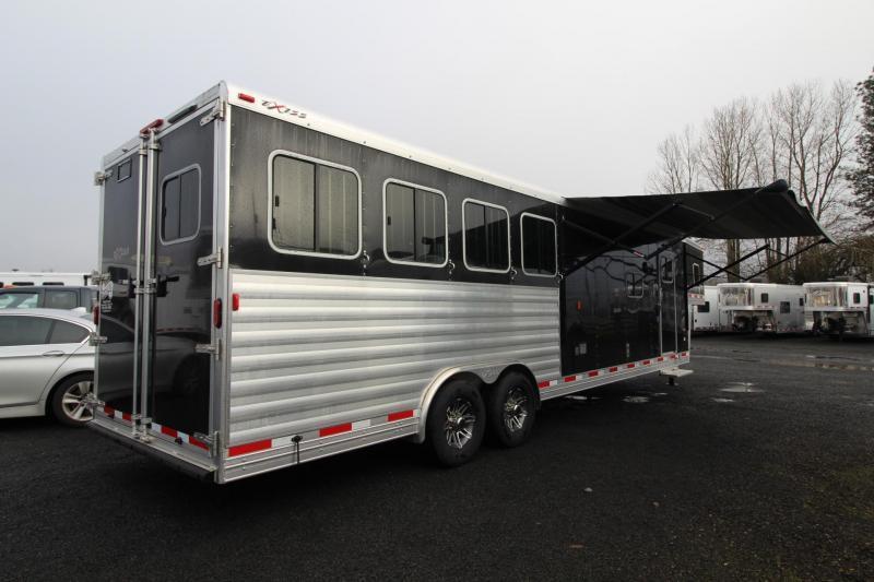 2018 Exiss Endeavor 8412 W/ Slide out - 4 Horse Living Quarters Trailer - Polylast Flooring - Stud Divider PRICE REDUCED $2800
