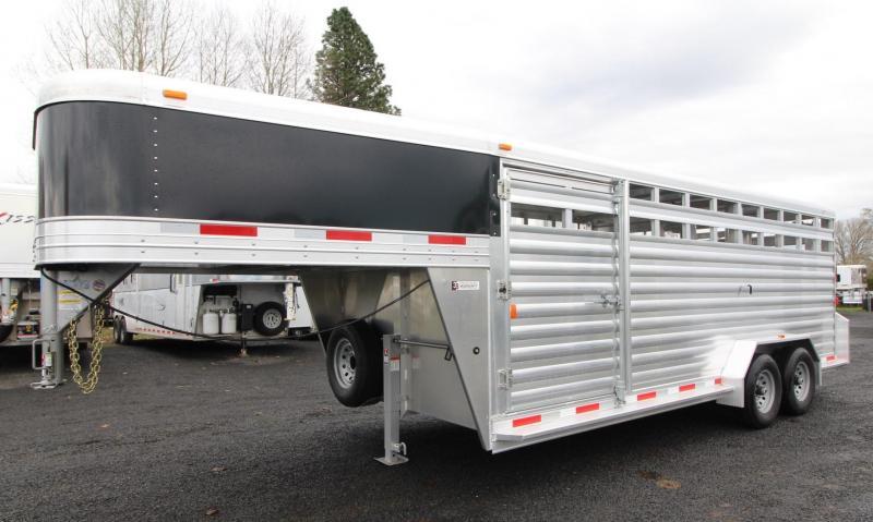 2019 Exiss STK 7020 Aluminum Livestock Trailer