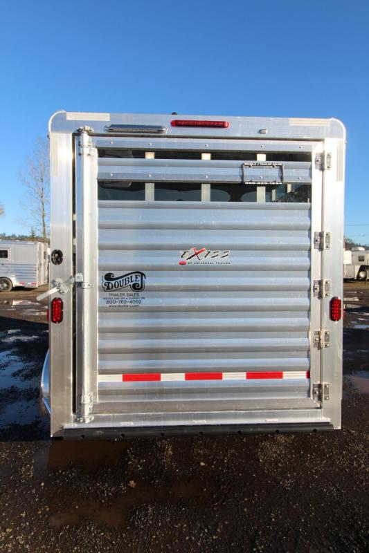2018 Exiss Express CXF 2 Horse Trailer W/ Plexi inserts - Jail Bar Dividers Drop Down WIndows