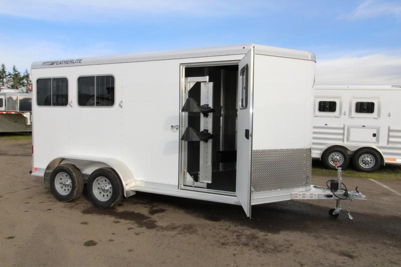 2017 Featherlite 9409 2 Horse Bumper Pull Trailer - All Aluminum - 7' Tall - Roomy Tack Room with Swing Out Saddle Rack $Reduced $1500