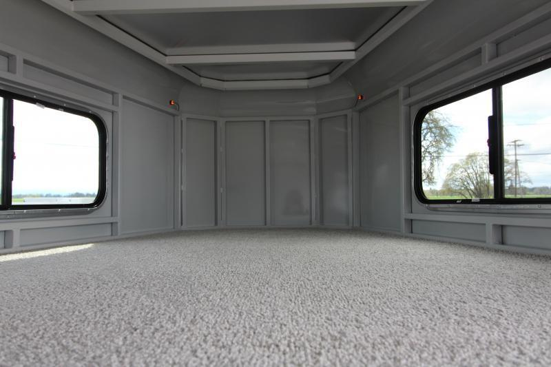 2019 Trails West 20' Hotshot Steel Stock Combo Trailer - Fully Enclosed Tack Room with Saddle Racks - 20' Stock Area