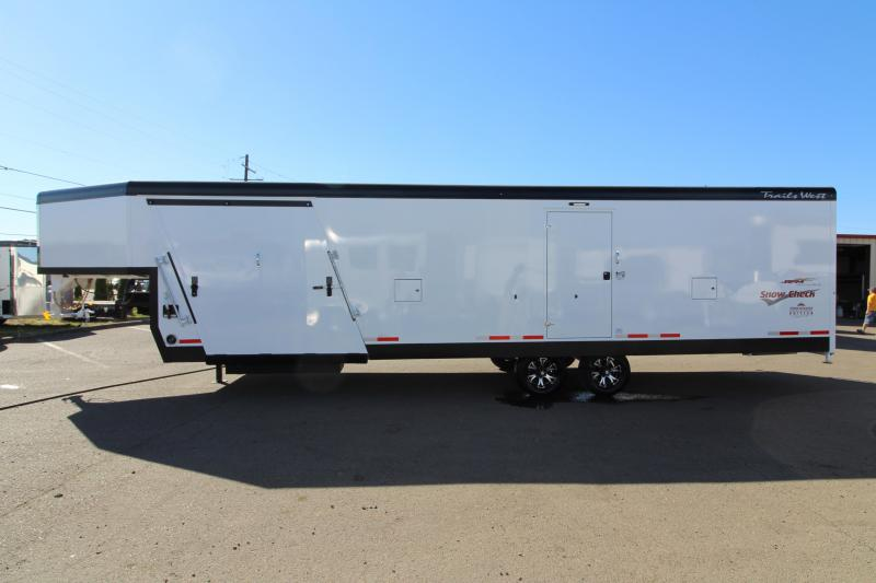 2019 Trails West  28' RPM Burandt Edition Snow Check Snowmobile Trailer - On Board Fuel Cell - Upgraded Car Hauler Option - PRICE REDUCED