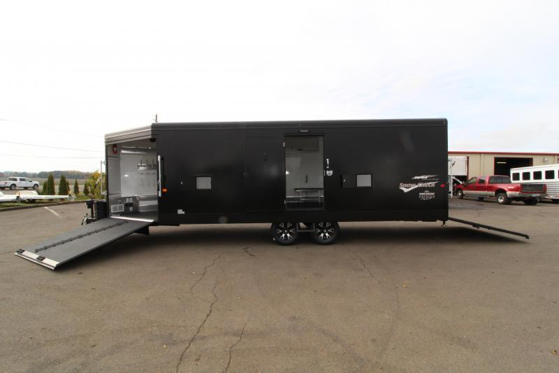 2019 Trails West Burandt Edition RPM 28' Bumper Pull Snowmobile Trailer - Power Rear Ramp - Car Option -
