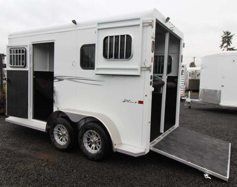 2019 Trails West Royale Plus Warmblood 2 Horse Straight load Trailer Aluminum wheel upgrade