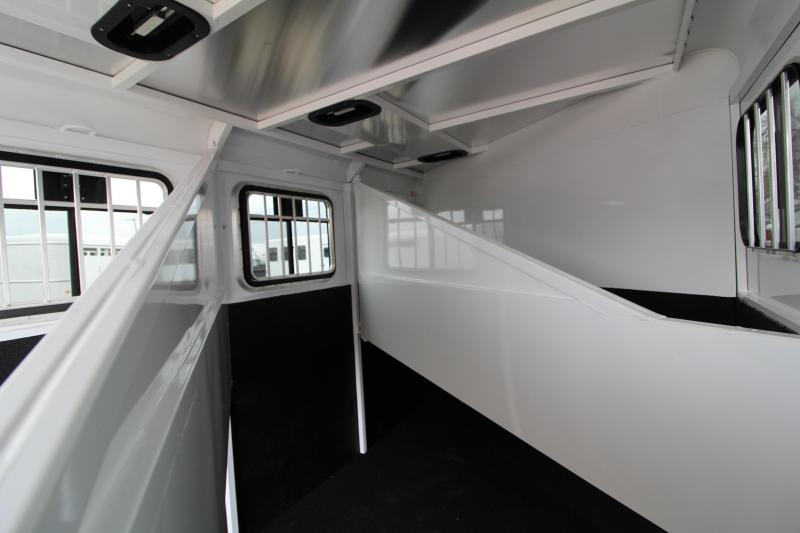 2019 Trails West Adventure MX 3 Horse Trailer - Upgraded Rear Door Windows - NEW Floor plan with Larger Stalls!