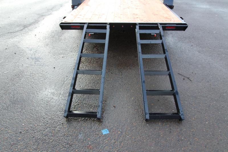 2019 Eagle 7 x 18 Tandem Eagle Flatbed - Trailer brakes - 2x6 Fir decking - HD diamond plate fenders - Full length rub rail - Heavy duty stored  5' ramp