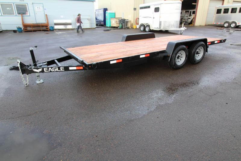 2019 Eagle Trailer 7 x 18 Tandem Eagle Flatbed