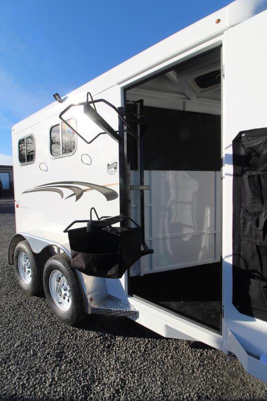 2019 Trails West Adventure II MX 2 Horse Trailer - Aluminum Skin Steel Frame