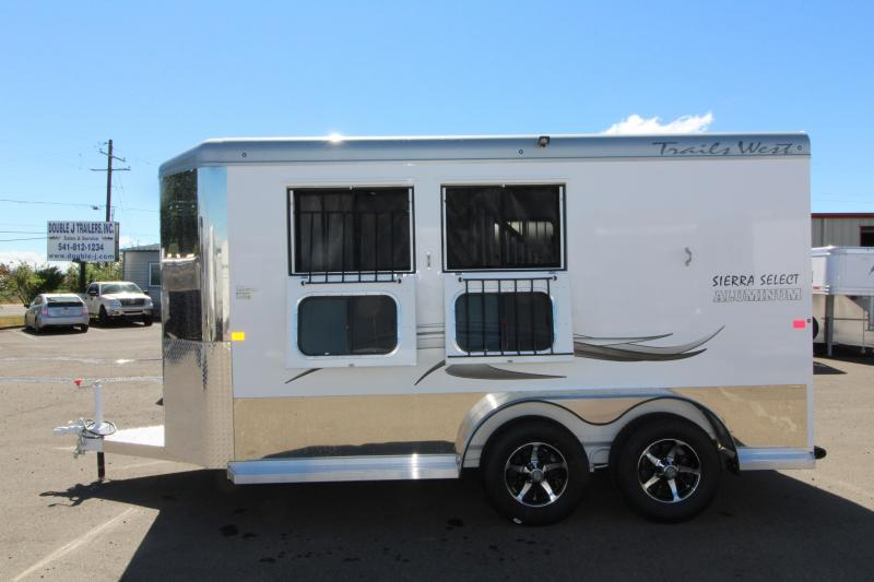 2019 Trails West Sierra Select 2 Horse Trailer - Vacuum Bonded Aluminum Construction -  Swing Out Saddle Rack - Fully Lined and Insulated