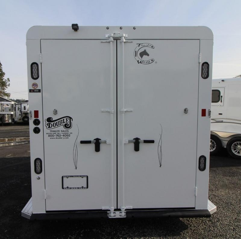 2019 Trails West Classic II 2 Horse Trailer - Hoof Grip Flooring - Steel Frame Aluminum Skin