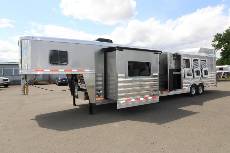 2018 Featherlite 9821 - 15' SW LQ w/ Slide Out 4 Horse Trailer - All Aluminum - Fully Loaded Trailer! - Hay Rack - Mangers and more! PRICE JUST REDUCED BY $1300
