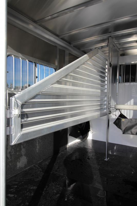 """2018 Featherlite 9407 Aluminum Straight Load 7'6"""" Tall  - Feed Bags - 2 Horse Trailer $$Reduced$$"""