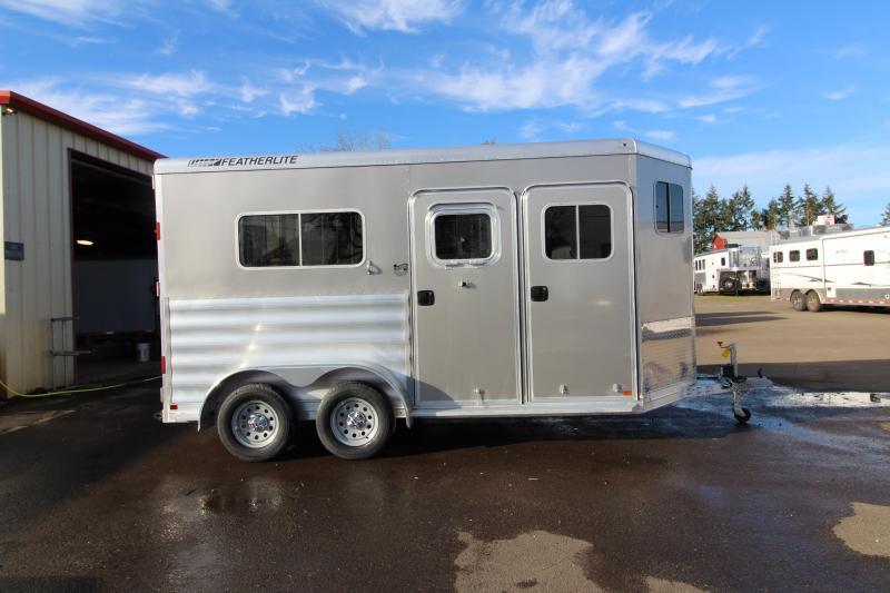 "2018 Featherlite 9407 Aluminum Straight Load 7'6"" Tall  - Feed Bags - 2 Horse Trailer $$Reduced$$"
