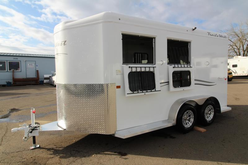 2019 Trails West Classic 2 Horse Trailer- Warmblood Sized Stalls and Extra Tall 7'6""