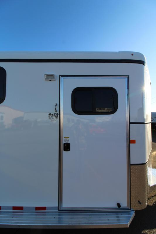 "2019 Thuro-Bilt 4 Horse Liberty Horse Trailer - 7'6"" Tall - Double Wall Construction - Drop Down Windows - Water Tank- Swing Out Saddle Rack"