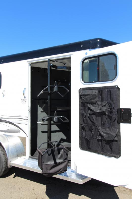2019 Trails West Sierra Select 2 Horse Trailer - Vacuum Bonded Aluminum Construction - Swing Out Saddle Rack - Fully Lined and Insulated Trailer
