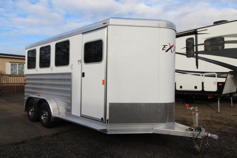 2018 Exiss Express 3 Horse Trailer - Polylast Flooring - Carpeted Tack Wall - Jail Bar Dividers- PRICE REDUCED!!