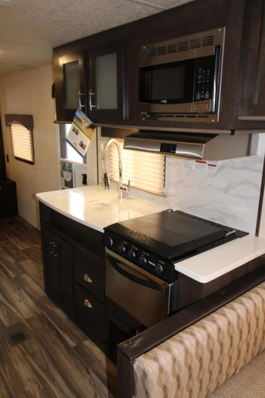 2018 Forest River EVO 2010 Travel Trailer - New Floorplan w/ Walk Around Queen Bed - Dinette and Sofa! - Golden Ash Interior Decor  - PRICE REDUCED BY $1000