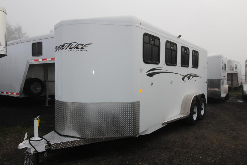 2019 Trails West-Adventure MX 4 Horse Trailer- with rear windows!
