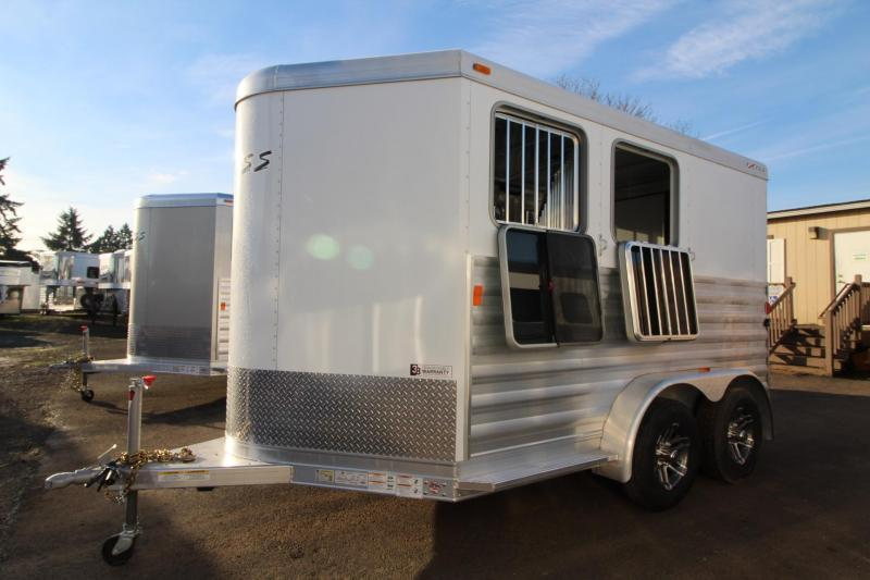 2018 Exiss Express 2 Horse Trailer W/ Jail Bar Dividers and Polylast Flooring PRICE REDUCED