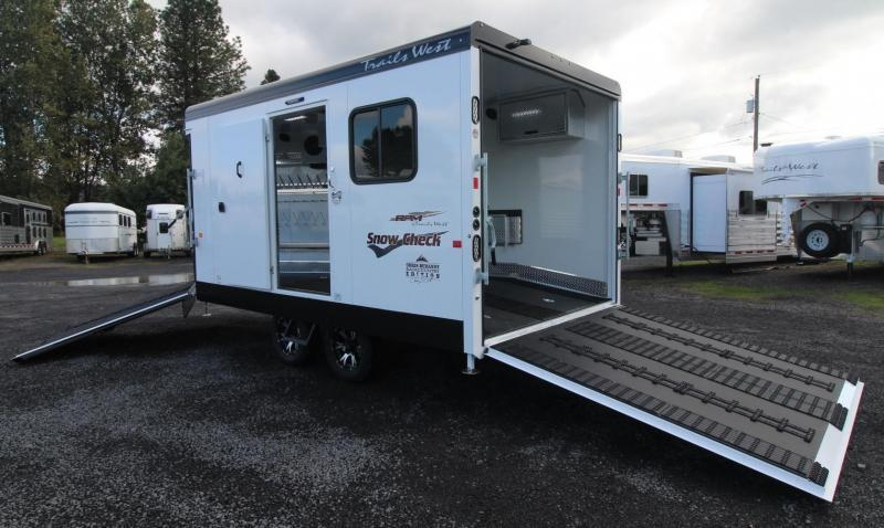 2019 Trails West 20ft RPM *NEVER USED* Snow Check Burandt Snowmobile Trailer Power Rear Ramp PRICE REDUCED