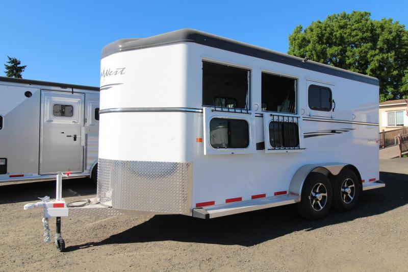 "2017 Trails West Sierra 7' 6"" Tall - Aluminum Skin - Conv. Pkg 3 Horse Trailer"