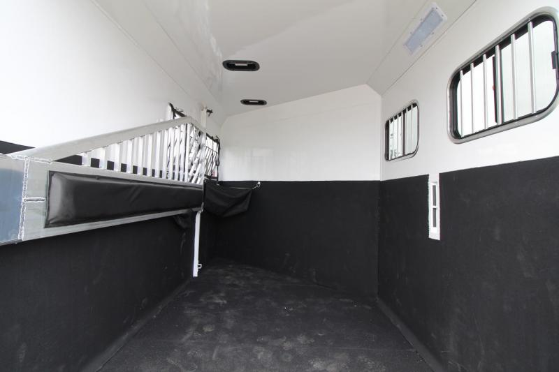 "2017 Trails West Sierra Select 7'6"" Tall - Seamless Vacuum Bonded Walls - Fully Lined and Insulated - 2 Horse Trailer - Aluminum"