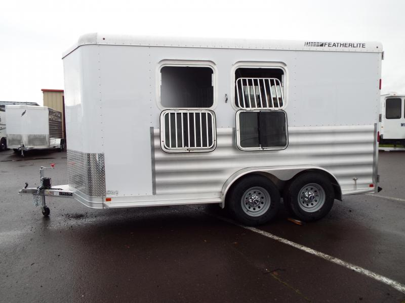 "2017 Featherlite 9551 2 Horse Trailer - 7'6"" Tall - All Aluminum - NEW Easy Care Flooring! PRICE REDUCED $1300"